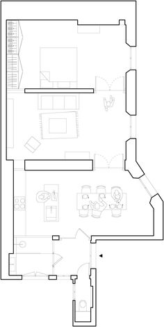My love of marble, as seen in a Paris apartment Parisian Architecture, Architecture Drawings, Architecture Plan, Interior Architecture, Paris Apartments, Small Apartments, Plan Drawing, Minimal Home, Unit Plan