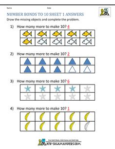 A simple sheet to help you learn your number pairs to make 10.