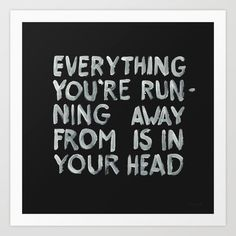 In your head by WRDBNR Inspiration Quote