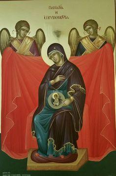 Παναγία η Εγκυμονούσα / Theotokos Pregnant with Christ Church Icon, Byzantine Icons, Orthodox Christianity, Blessed Virgin Mary, Orthodox Icons, Blessed Mother, Religious Art, Our Lady, Saints