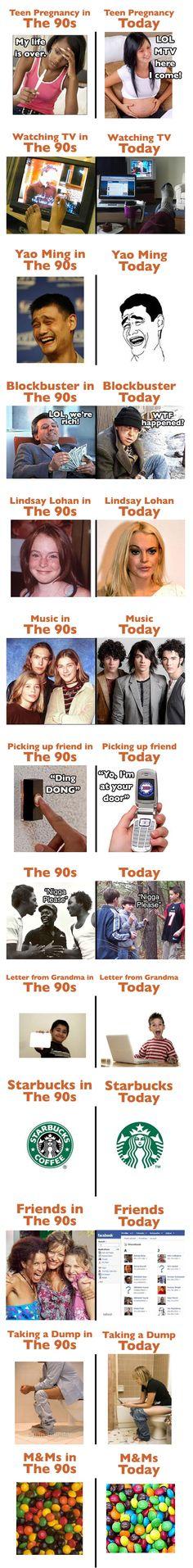 the 90's vs. today...  haahaha