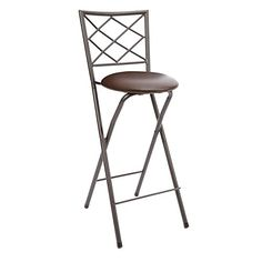 Elegant Portable Bar Stool with Back