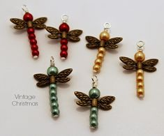 Tutorial -Beaded Dragonfly Pendant Charms (+playlist)