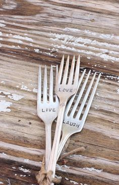 Live, laugh, love forks