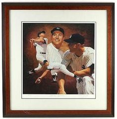 1990's Mickey Mantle Signed LE 1/53 Danny Day Framed Artist Proof Litho, JSA - PSA/DNA Certified - Autographed MLB Art ** Check this awesome product by going to the link at the image.