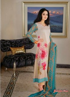 Armeena Khan Formal Prints Lawn collection 2014 by Gohar Textiles