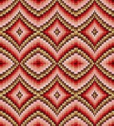 Bargello Quilt Pattern on Craftsy - new style love Bargello Quilt Patterns, Bargello Needlepoint, Bargello Quilts, Quilt Patterns Free, Stitch Patterns, Hardanger Embroidery, Embroidery Stitches, Hand Embroidery, Swedish Weaving