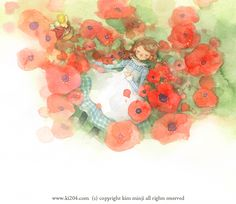 """Kim Min Ji, """"Wizard of Oz"""" illustration Watercolor Illustration Children, Winter Illustration, Children's Book Illustration, Kim Min Ji, Fairy Tales For Kids, Wizard Of Oz, Illustrators, Character Design, Drawings"""