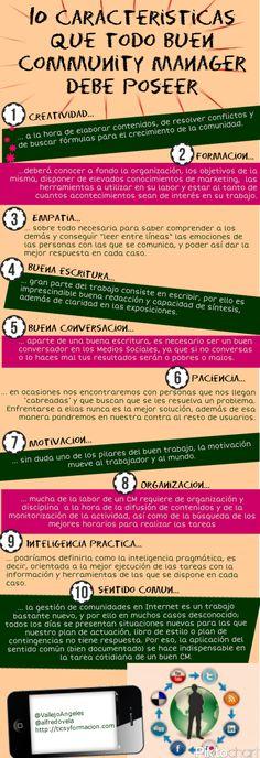 10 características que todo buen Community Manager debe poseer. #Infografía en español