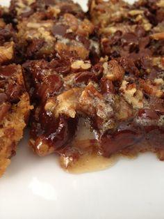 Gooey Chocolate Pecan Pie Bars.  Drool!