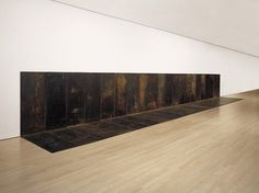 """Carl Andre. Fall. 1968, New York, Guggenheim Museum; also exhibited at Ace Gallery Los Angeles (see similar work """"Rise"""" by Andre at Ace)"""