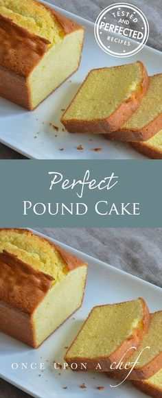 Perfect Pound Cake While most traditional pound cake recipes call for equal weights of flour sugar eggs and butter this recipe incorporates milk lots of extra butter and. Food Cakes, Cupcake Cakes, Muffin Cupcake, Just Desserts, Dessert Recipes, Dinner Recipes, Fall Desserts, Pound Cake Recipes, Recipe For Pound Cake