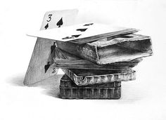 23 Playing Cards Pencil Drawing Ideas - New Art Drawings Sketches Simple, Realistic Drawings, Pencil Art, Pencil Drawings, Observational Drawing, Drawing Projects, Drawing Ideas, Ap Studio Art, Object Drawing