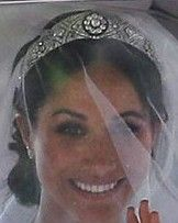 Queen Mary Diamond Bandeau Tiara worn by Meghan Markle on her Wedding Day May The crown was STUNNING. Harry And Meghan Wedding, Harry Wedding, Meghan Markle Wedding, Trendy Wedding, Harry And Megan Markle, Meghan Markle Prince Harry, Prince Harry And Megan, Royal Brides, Royal Weddings