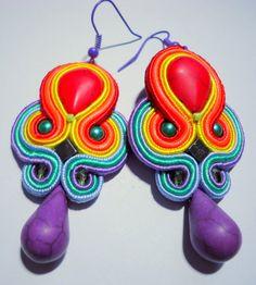 Soutache Earrings  Rainbow II