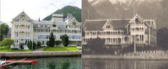 Norway: Then and Now. Here's a side-by-side comparison of the Kviknes Hotel in Balestrand. The photo on the left shows a modern-day view whi...