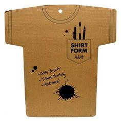 Adult Cardboard Shirt Form Hobby Lobby