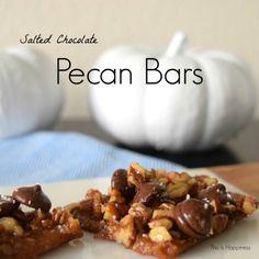 Salted Chocolate Pecan Bars | easy, delicious recipe