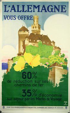 Affiche originale, Allemagne, par Ludwig Hohlwein.