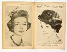 Vintage women's hairstyle from HJ, dating back to the 1950s