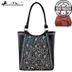 Montana West Concealed Carry Purse Right & Left Draw Western Concealment Black #MontanaWest #ShoulderBag