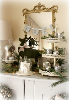 The Fancy Shack: ~A Christmas Tour & Vignettes~the noel