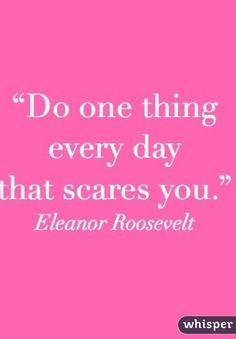 Let the fears go