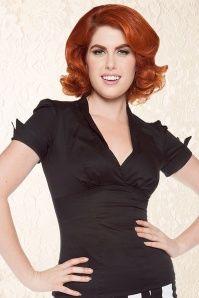 Laura Byrnes Sean top in black 10844 04