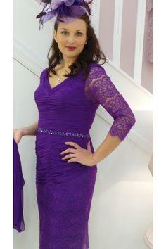 135 Zeila Purple Ruched Dress