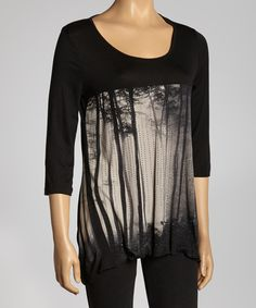824b949dac6 Bring a little piece of serenity to any wardrobe with this effortless  forest-print top. Measurements (size M)  long from high ...