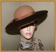 Lady Stetson Hat AND Box Camel Hat & Original by Nicholettes, $125.00