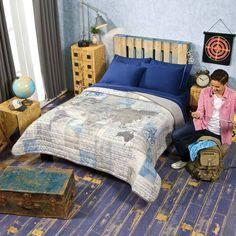 Twin, Full/Queen Teens World Comforter Set  #VNG
