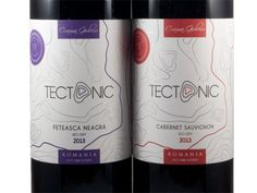 Două vinuri roșii din gama Tectonic a Cramei Gîrboiu Wine Bottle Design, Cabernet Sauvignon, Drinks, Drinking, Beverages, Drink, Beverage