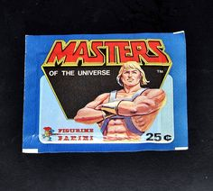 Masters of the Universe He-Man Sticker Pack Panini MOTU