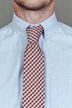 Gingham Skinny Tie.