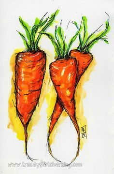 Tracey Fletcher King: Carrot Painting Demonstration.... there are two videos that appear on this blog post that show you how I painted this... hope you enjoy...xx