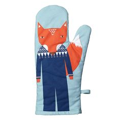 Use this oven mitt when entertaining friends and loved ones.Featuring Donna's friendly Fox, this oven mitt was designed with the hopes of encouraging ho. Friendly Fox, Fox Decor, Kitchen Oven, Table Linens, Tea Towels, New Product, Gifts For Him, Shopping, Design