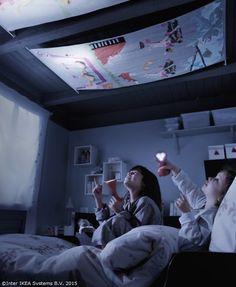 Tavanul poate fi plin de poveşti de noapte bună. :) http://www.IKEA.ro/catalog/products/20193267/