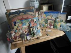 Vintage Toy Theater and Scenes in A Purpose Made Wooden Box | eBay