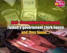 A clerk house is not less than a big official. Know what happened when anti-corruption department raided