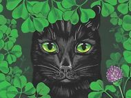 1.5x2 DOLLHOUSE MINIATURE PRINT OF PAINTING RYTA 1:12 SCALE ST PATRICKS DAY CAT