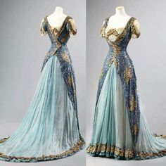 Ball gown 1905-1910, England or France source: edwardian time machine