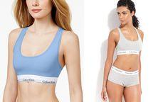 Calvin Klein Modern Cotton Logo Bralette F3785 - Women - Macy's