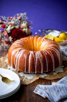 Lemon Yogurt Pound Bundt Cake. This incredibly moist and delicious cake is the perfect dessert for Mother's Day!