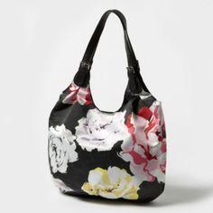 Dark Floral Shoulder Bag  Claire's $4.00