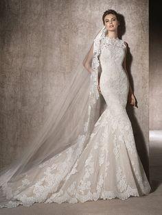 Brautkleid Carré-Ausschnitt - Moira