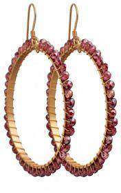 Elyssa Bass Red Quartz Drop Hoop Earrings on shopstyle.com