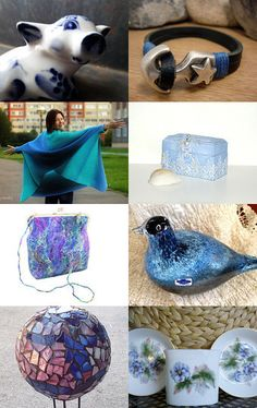 December Blues by Grace on Etsy