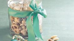DIY Chex® Vanilla Chunks - cross multiple people off your Christmas gift list with this delicious, big-batch recipe packaged in cute glass jars or festive holiday tins.