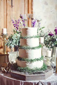 rosemary-wreathed cake   The Nichols